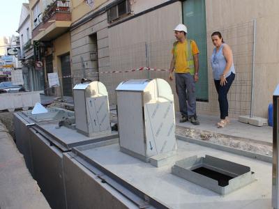 Las obras de soterramiento de los contenedores de la calle Ramón y Cajal avanzan a buen ritmo