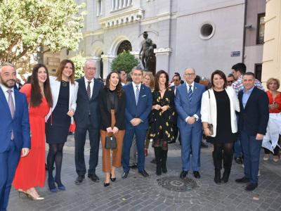 Presentado el cartel anunciador de las fiestas del entierro de la sardina de Murcia, con la asistencia de la Alcaldesa y varios concejales del equipo de Gobierno