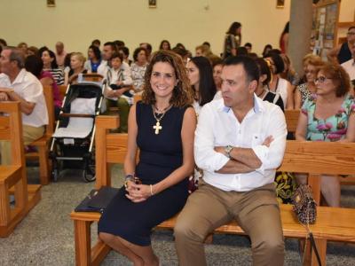 Misa del cuarto día del Quinario a la Virgen delRosarioen lasfiestaspatronales de La Algaida