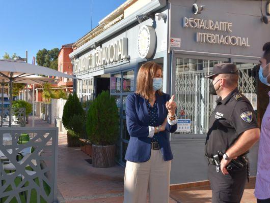 """Patricia Fernández: """"Archena mantendrá la ampliación de terrazas de los establecimientos hosteleros mientras no se restituya la situación pre pandemia"""""""