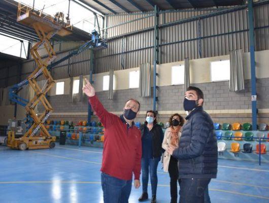 Obras de remodelación y mantenimiento en el Pabellón Municipal de La Fuensanta en La Algaida