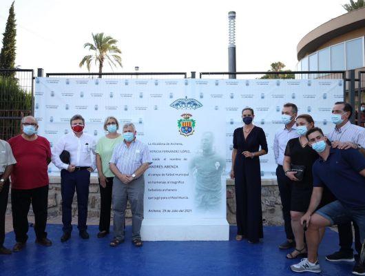 El Campo Municipal de Fútbol de Archena lleva el nombre de 'Andrés Abenza' como homenaje, a título póstumo, al que fue futbolista profesional del Real Murcia