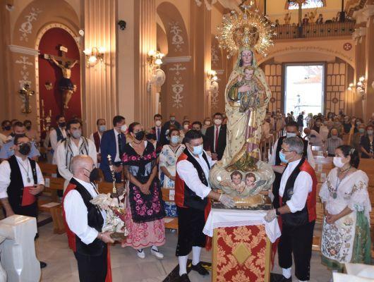 Primero de los actos solemnes de las Fiestas Patronales, misa a la Patrona la Virgen de la Salud