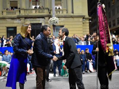 La agrupación musical Santa Cecilia y la carroza aportada por el Ayuntamiento de Archena ocupan un papel protagonista en el Entierro de la Sardina