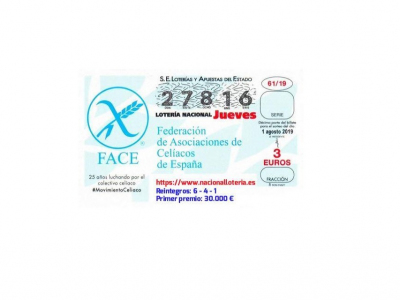 Laloteríadel jueves 1 de agosto dejó en Archena 1,8 millones de euros con el número 27.816