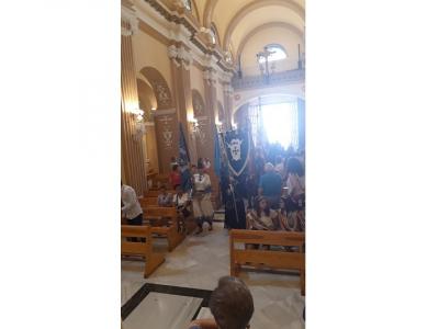 Emotiva y solemne ofrenda de flores al Patrón, el Corpus, dentro del programa de fiestas de moros y cristianos