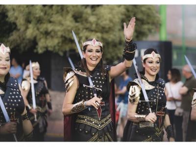 Gran Desfile Parada de Moros y Cristianos el presenciado ayer noche en las calles de Archena
