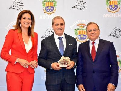 José Rojo Rojo, gerente de Congelados Pedáneo y David García Alcolea, gerente de CAD FUNCIONAFIT, galadornados en la II Cena-Gala del Comercio