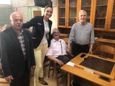 Visita de la Alcadesa al Centro Social de Personas Mayores