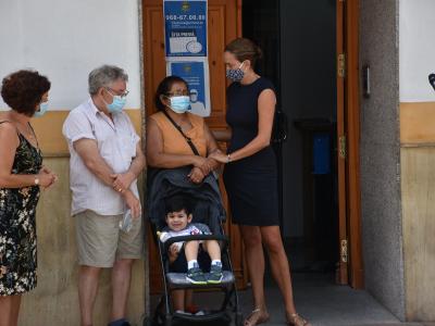 Concentración para condenar la violencia machista sufrida por una vecina de Archena este pasado fin de semana
